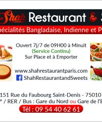Shah Restaurant & Sweet